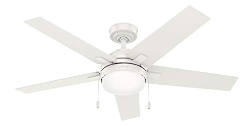 Hunter Bartlett Indoor Ceiling Fan with LED Light and Pull...