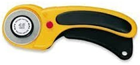 The maximum sharpness / Made in Japan /OLFA 45 mm tungsten steel Ergonomic Rotary Cutter & 45mm Rotary Blade Refill, 1-Pac...