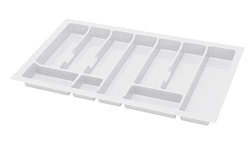 Alusfera Besteckkasten fur Schubladen 80 Besteckeinsatz für Schubladen 730 x 430 mm Besteck Schubladeneinsatz Schubladen Organizer Küche Weiss