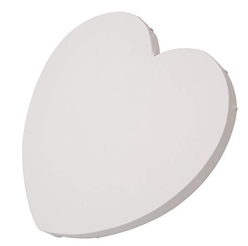 Honsell 12232 Keilrahmen in Herzform, 30 x 30 x 1,5 cm, strapazierfähiges Maltuch aus 100% Baumwolle, rückseitig geklammert, für Öl-und Acrylmalerei und Schabloniertechnik, weiß