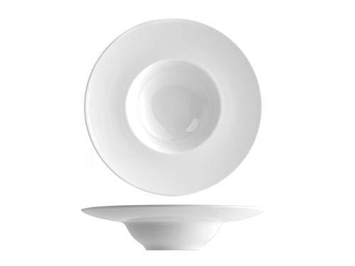 SATURNIA Napoli Confezione 6 Piatti K-Bowl, Porcellana, Bianco, 24 Cm