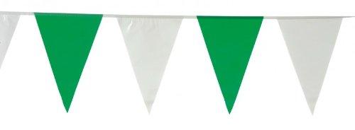 Wimpelkette 10 Meter weiss-grün, Wimpelgirlande