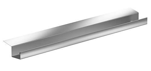 Kastendachrinne Simpel 2 Meter Aluminium Natur incl. Montagematerial ohne Dachrinnenhalter einsetzbar