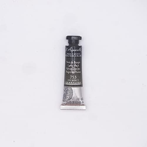 Sennelier French Artists' Watercolor, 10ml, Lamp Black S1