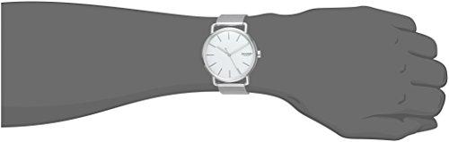 Skagen Men's Falster Analog-Quartz Watch with Stainless-Steel Strap, Silver, 20 (Model: SKW6399)