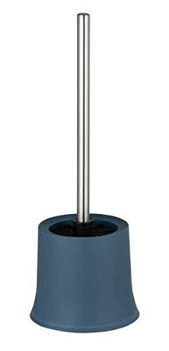 WENKO WC-Garnitur Basic Blau - WC-Bürstenhalter, Polypropylen, 14 x 38 x 14 cm, Blau