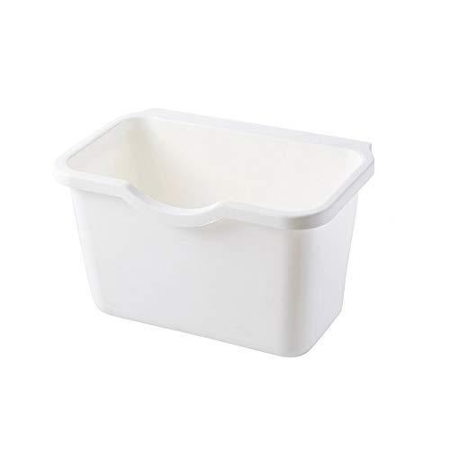 Mülleimer Weiß Küche kann Küchenschrank Tür hängen Müll Mülleimer Mülleimer Mülleimer hängen Tischmülleimer Trash Can Rubbish Bin Hängen Falten hängen Wandbehang Papierkorb Küche Haushalt