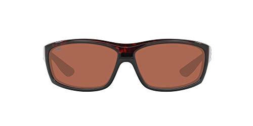 Costa Del Mar Men s Saltbreak Polarized Rectangular Sunglasses, Tortoise Copper Polarized-580P, 65 mm