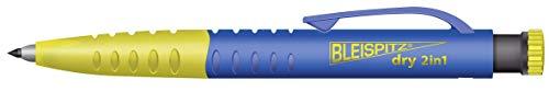 BLEISPITZ Dry 2in1 | Druckbleistift & Tieflochmarker in einem | Handwerker Druckbleistift | Integrierter Anspitzer | Profi-Qualität
