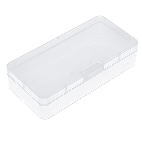 Veloraa Scatola portaoggetti in plastica, portagioie in plastica Trasparente con Coperchio per Artigianato per Gioielli per Fai da Te per Perline