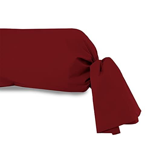 Atmosphère Taie de traversin uni 85x185 cm ATMO rouge