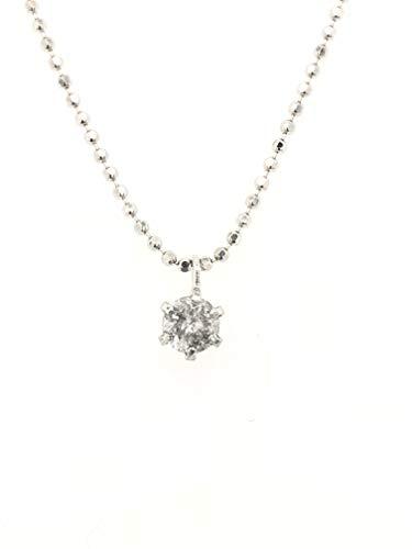 【KASHIMA】K18ホワイトゴールド台 0.1ct ダイヤモンド 一粒石 プチ ペンダント ネックレス