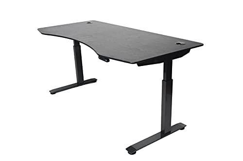 ApexDesk Elite Series 71' W Electric Height Adjustable Standing Desk (Memory Controller, 71' Red Apple Top, Black Frame)