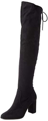 Tamaris Damen 1-1-25512-25 Kniehohe Stiefel, schwarz, 38 EU