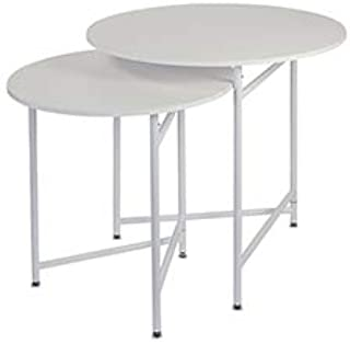 Round Nesting White Tables (Display Tables)