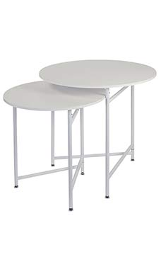 SSWBasics Round Nesting White Tables (Display Tables)