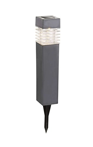 LED Solarlampe mit Erdspieß Wegelampe Solar Außenleuchte Wegbeleuchtung Schalter Schwarz (Gartenlampe, Solarleuchte, Gartenleuchte, Außenlampe, Höhe 39 cm)