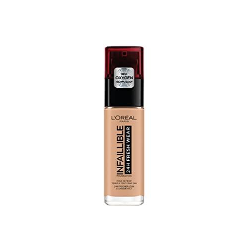 L'Oreal Paris Base de Maquillaje Larga Duración Infalible 24h Fresh Wear, Tono 230 Miel Eclat, 30ml