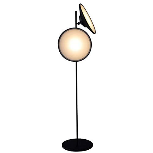 Lámpara de pie de curvatura Lámpara de pie industrial LED, lámpara de pie con 2 cabezas ajustables, lámpara de pie rústica, granja de altas lámparas de pie para sala de estar, dormitorio, oficina, 2 b