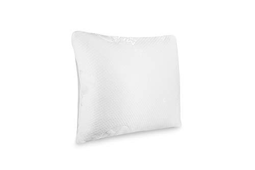 SLEEPMED Kopfkissen Memory Schaum aus Visco Gelschaum, Memory Foam Kissen orthopädisch für Reisen und Zuhause, Seitenschläfer, Hypo allergen, 55 x 43 cm
