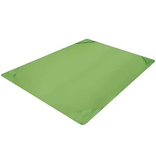 1 tapete a prueba de arena, para picnic, cómodo, plegable, tela Oxford verde, 145 x 200 cm