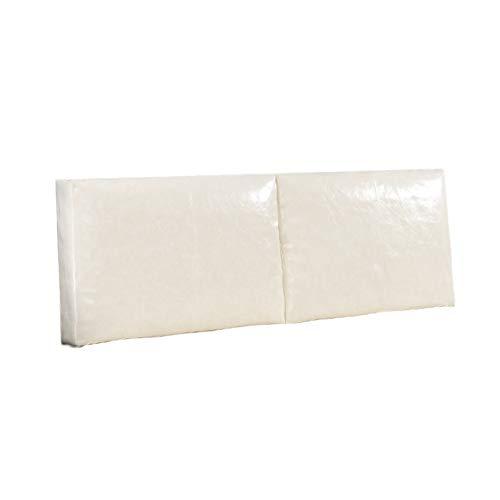 LXLIGHTS Kopfteil Rückenkissen, Soft Case Lesekissen, Sofa Rückenpolster Rückenlehnenkeil Rückenlehne Keil Einzel/Doppelbett, 7 Farben (Color : Beige, Size : 120x55x10cn)