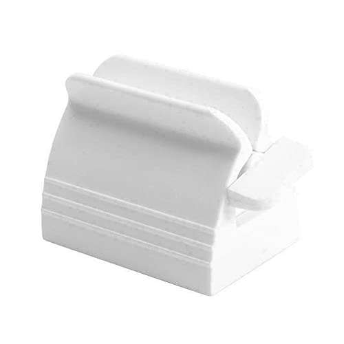 Rolling Tube Toothpaste Squeezer Manual Rotate Toothpaste Seat Holder Stand for Bathroom Accessories White