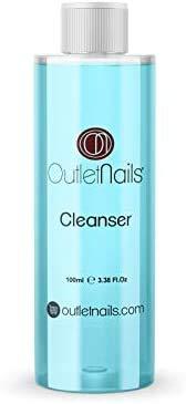 Cleaner para Gel 100ml Azul - Aroma Coco - Eliminar la capa pegajosa de geles UV/Esmaltes permanentes/Esmaltado Permanente/Cleanser para uñas de gel