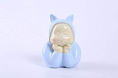 Standbeeld Porselein Snijwerk Hars Pop Decoratie Huis Kinderkamer Decoratie Kinderen Cadeau Blauw