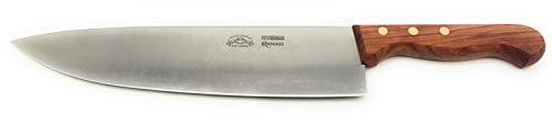 Cuchillo de cocina Chef – Kitchen Knife hoja cónica satinada 24 cm. Cuchillos Pascotto | Doi Leons Fabricado artesanalmente en Italia (mango de madera de Bubinga)