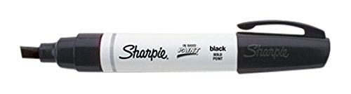 Sharpie Oil-Based Paint Marker, Bold Point, Black, 1 Count - Great for Rock Painting