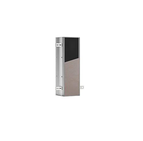 emco ASIS PLUS WC-Bürstengarnitur-Unterputz-Modul, platzsparender Stauraum aus hochwertigem Aluminium für die Toilettenbürste, individuell gestaltbar mit Klobürstenhalter