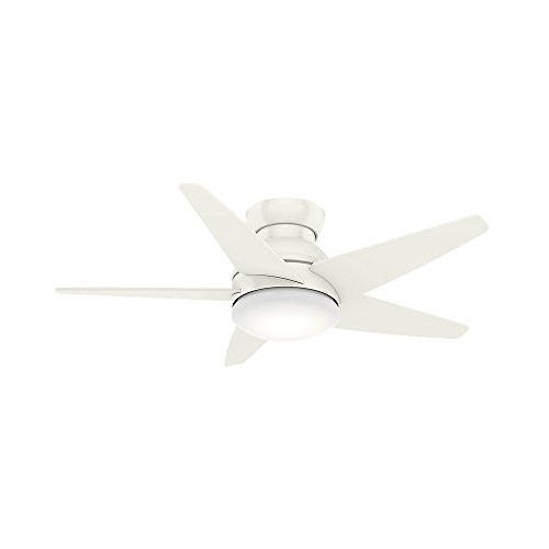 Casablanca Fan Company 59350 44' Isotope Ceiling Fan with Light with Wall Control, Small, Fresh White