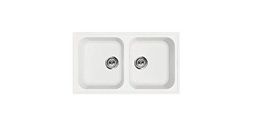 SMEG Lavello LZ862B 2 Vasche Dimensioni 86 x 50 cm Colore Bianco Serie Rigae
