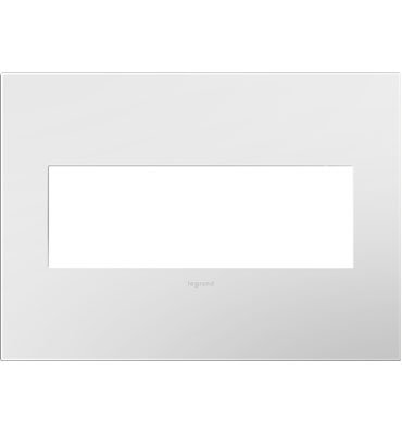 Legrand adorne 3-Gang Wall Plate in Gloss White-on-White, AWP3GWHW4 (4)