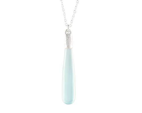 Collar con colgante electroformado de Onyx de OOOAK de Virat, hecho a mano, joyería de plata de ley 925, cadena de 45,72 cm