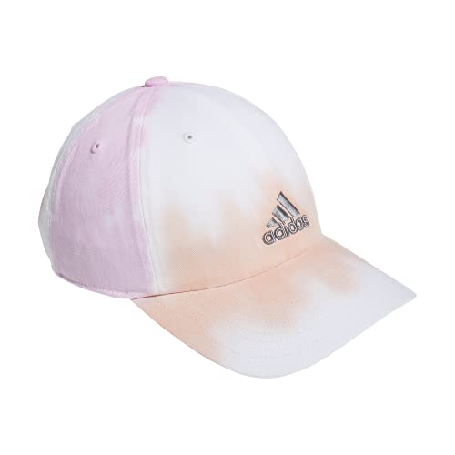adidas Women's Relaxed Fit Color Wash Adjustable Cap, Vapour Pink/Frost Pink/Grey, One Size