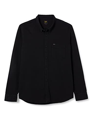 Lee Button Down, Camisa para Hombre, Negro (Black Jeans 01), X-Large