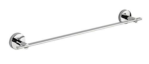 WENKO Vacuum-Loc® Badetuchstange Uno Capri - Befestigen ohne bohren, Zinkdruckguss, 58.5 x 6 x 7 cm, Chrom