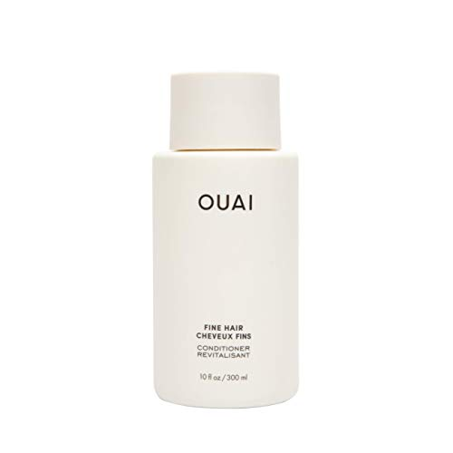 OUAI Fine Conditioner. This Lightweight Conditioner Gives Fine Hair Softness, Bounce and Volume. Made with Keratin and Biotin. Free from Parabens, Sulfates, and Phthalates (10 oz)