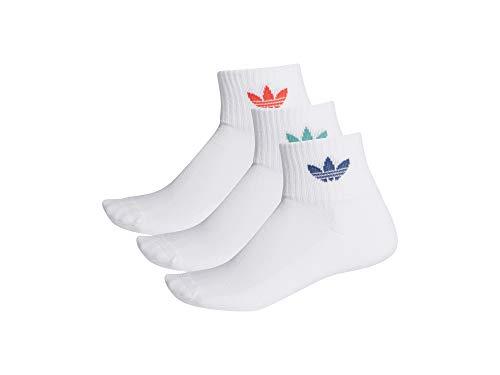 adidas Mid Ankle Socks 3-Pack White White Red 37-39