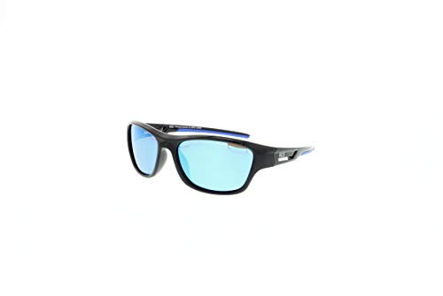 HIS HPS00104-1 Polarisierend Sonnenbrille, Smoke With Blue Revo Pol