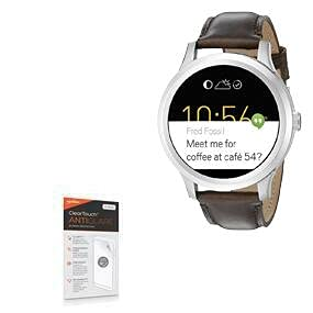 BoxWave Screen Protector for Fossil Q Founder Gen 2 (2016), [ClearTouch Anti-Glare (2-Pack)] Anti-Fingerprint Matte Film Skin for Fossil Q Founder Gen 2 (2016), Tailor