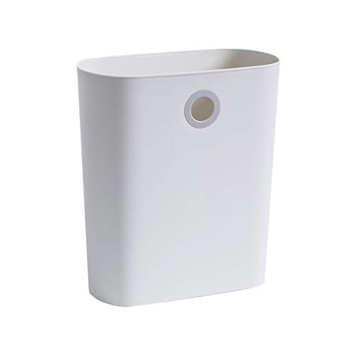 Smalle Trash Can Kitchen, Hung En Put Vuilnisbak Zonder Deksel Papiermand Voor Office Huis Living Room Bathroom Toilet,White