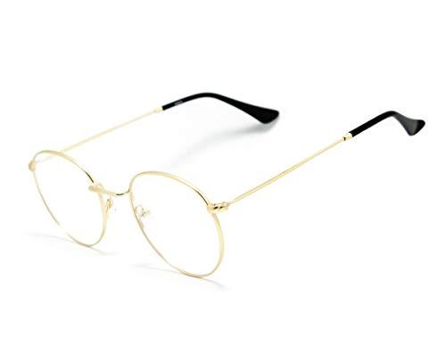 Óculos Armação Unissex Geek Redondo Round Metal Jc-9274 Cor: Dourado