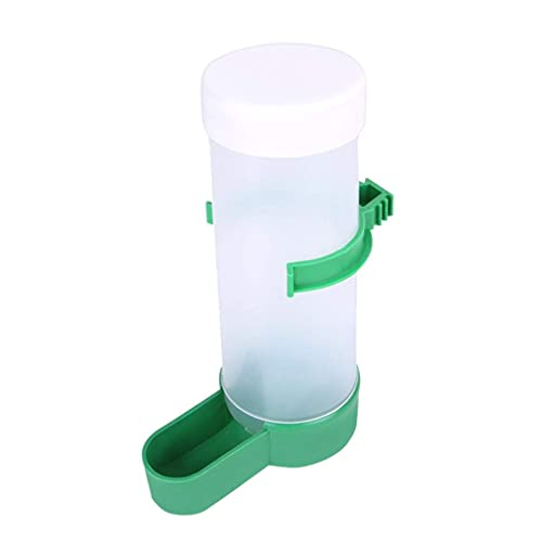 showyow Dispensador de Agua para pájaros Alimentador de Agua voluntario Botella de Agua para pájaros Bebedero Contenedor Bebedero Clip alimentador para Colgar en una Jaula de pájaros para Loros