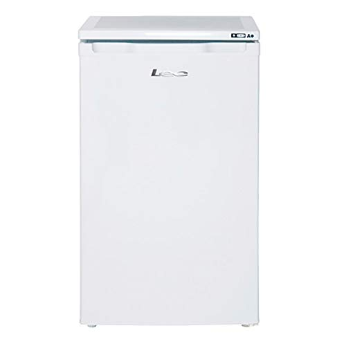 Lec U5010W Freestanding Under Counter Freezer, Adjustable Thermostat, 70L Total Capacity, 50cm wide, White