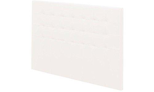 EBAC Literie Tete de lit Charme capitonnée Simili Blanc L.190