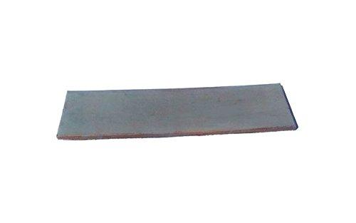 Lederabziehriemen GRAU, 20cm x 5cm, behandelt mit SIC-Polierpaste