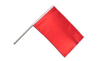 Flaggenfritze® Große Stockflagge Schwenkflagge Einfarbig Rot 60 x 90 cm